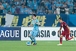Jiangsu FC Midfielder Xie Pengfei (L) in action during the AFC Champions League 2017 Round of 16 match between Jiangsu FC (CHN) vs Shanghai SIPG FC (CHN) at the Nanjing Olympic Stadium on 31 May 2017 in Nanjing, China. Photo by Marcio Rodrigo Machado / Power Sport Images