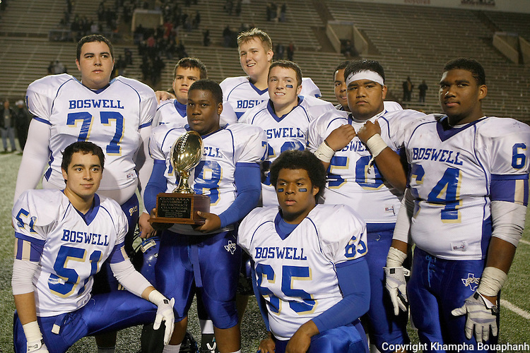 Boswell wins Bi-District by defeating Wichita Falls Rider at Memorial Stadium in Wichita Falls on Friday, November 15, 2013. (Photo by Khampha Bouaphanh)