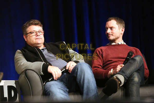 PHILADELPHIA, PA - MAY 19:  Sean Aston and Elijah Wood speaking at a panel at Wizard World in the Convention Center in  Philadelphia, Pa on May 19 2018  <br /> CAP/MPI/STA<br /> &copy;STA/MPI/Capital Pictures