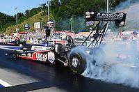 Jun. 15, 2012; Bristol, TN, USA: NHRA top fuel dragster driver Bruce Litton during qualifying for the Thunder Valley Nationals at Bristol Dragway. Mandatory Credit: Mark J. Rebilas-