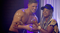 Celebrity Big Brother 2017<br /> Jordan Davies and Sandi Bogle.<br /> *Editorial Use Only*<br /> CAP/KFS<br /> Image supplied by Capital Pictures