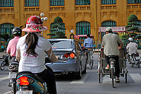 Traffic in downtown Hanoi, Vietnam