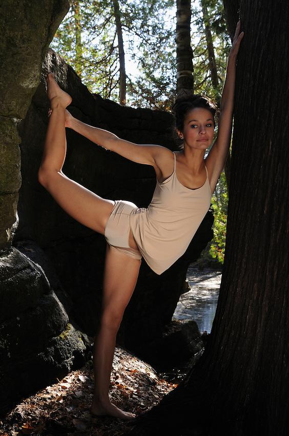 Photographer Gregory Holmgren's 2012 dance, movement photography project, autumn 2012 with Toronto dancer, Yoga Teacher Jaimee Horn at Rockwood, ON, October 25, 2012.