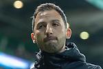 08.03.2019, Weser Stadion, Bremen, GER, 1.FBL, Werder Bremen vs FC Schalke 04, <br /> <br /> DFL REGULATIONS PROHIBIT ANY USE OF PHOTOGRAPHS AS IMAGE SEQUENCES AND/OR QUASI-VIDEO.<br /> <br />  im Bild<br /> <br /> Domenico Tedesco (Trainer FC Schalke 04)<br /> nachdenklich Gestik, Mimik,<br /> <br /> Foto &copy; nordphoto / Kokenge