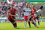 13.08.2017, Ostalb Arena, Aalen, GER, DFB Pokal, SF Dorfmerkingen vs RB Leipzig, im Bild Felix Gruber (Dorfmerkingen #21), Niklas Wei&szlig;enberger / Weissenberger (Dorfmerkingen #9), Yussuf Poulsen (Leipzig #9), Fabian Wei&szlig; / Weiss (Dorfmerkingen #14), Naby Deco Keita (Leipzig #8)<br /> <br /> Foto &copy; nordphoto / Hafner