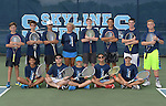 8-25-16, Skyline High School boy's junior varsity tennis team