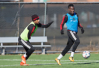 Washington, D.C. - Monday February 13, 2017: D.C. United train ahead of their 2017 MLS season at D.C. United practice facility at RFK Stadium.