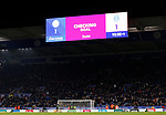 The screen notifies of a VAR check on the winning goal from Leicester City's Kelechi Iheanacho against Everton during the Premier League match at the King Power Stadium, Leicester. Picture date: 1st December 2019. Picture credit should read: Darren Staples/Sportimage