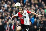Nederland, Rotterdam, 23 december  2012.Eredivisie.Seizoen 2012/2013.Feyenoord-FC Groningen.Joris Mathijsen van Feyenoord in actie met de bal
