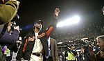Madison Bumgarner (Giants),<br /> OCTOBER 26, 2014 - MLB :<br /> Madison Bumgarner of the San Francisco Giants waves to fans after Game 5 of the 2014 Major League Baseball World Series against the Kansas City Royals at AT&amp;T Park in San Francisco, California, United States. (Photo by AFLO)