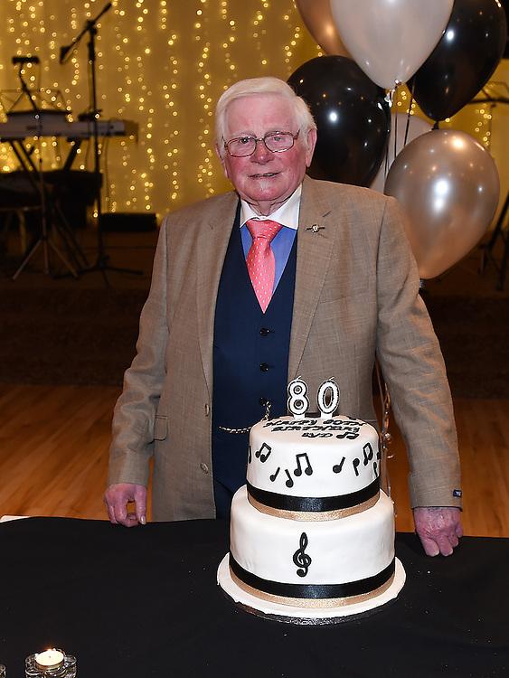 Syd Kierans celebrating his 80th birthday in The Glenside Hotel. Photo:Colin Bell/pressphotos.ie