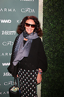 LOS ANGELES - FEB 20:  Diane Von Furstenberg at the CFDA Variety and WWD Runway to Red Carpet at Chateau Marmont Hotel on February 20, 2018 in West Hollywood, CA