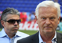 Hans Backe head coach of the New York RedBulls during a MLS match against the Philadelphia Union on April 24 2010, at RedBull Arena, in Harrison, New Jersey. RedBulls won 2-1.