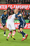 15.04.2019, RheinEnergieStadion, Koeln, GER, 2. FBL, 1.FC Koeln vs. Hamburger SV ,<br />  <br /> DFL regulations prohibit any use of photographs as image sequences and/or quasi-video<br /> <br /> im Bild / picture shows: <br /> hier ist der Beweis Rick van Drongelen (HSV #4), haelt Anthony (Toni) Modeste (FC Koeln #27), im 16 Meter Raum fest <br /> <br /> Foto © nordphoto / Meuter
