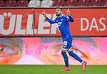 17.06.2020, Fussball 1. Bundesliga 2019/2020, 32. Spieltag, FC Augsburg - TSG 1899 Hoffenheim, in der WWK-Arena Augsburg. Jubel Torschütze Munas Dabbur (TSG 1899 Hoffenheim) zum Tor zum 0:2<br /> <br /> Foto: Bernd Feil/MIS/Pool/PIX-Sportfotos<br /> <br /> Nur für journalistische Zwecke! Only for editorial use! <br /> <br /> Gemäß den Vorgaben der DFL Deutsche Fußball Liga ist es untersagt, in dem Stadion und/oder vom Spiel angefertigte Fotoaufnahmen in Form von Sequenzbildern und/oder videoähnlichen Fotostrecken zu verwerten bzw. verwerten zu lassen. DFL regulations prohibit any use of photographs as image sequences and/or quasi-video.    <br /> <br /> National and international NewsAgencies OUT.