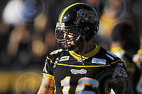 July 25, 2008; Hamilton, ON, CAN; Hamilton Tiger-Cats linebacker Zeke Moreno (16). CFL football - Edmonton Eskimos versus Hamilton Tiger-Cats at Ivor Wynne Stadium. The Eskimos defeated the Tiger-Cats 19-13. Mandatory Credit: Ron Scheffler-ronscheffler.com. Copyright (c) Ron Scheffler