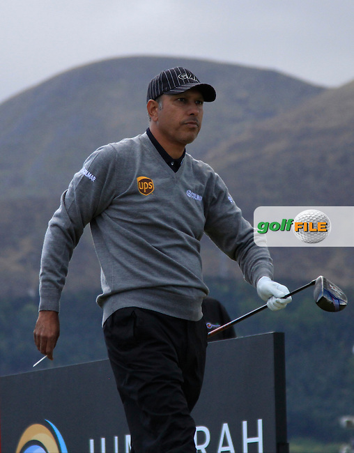 Jeev Mikha Singh (IND) on the 11th tee during Round 1 of the 2015 Dubai Duty Free Irish Open, Royal County Down Golf Club, Newcastle Co Down, Northern Ireland. 28/05/2015<br /> Picture Thos Caffrey, www.golffile.ie