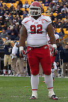 Utah defensive tackle Star Lotulelei. The Utah Utes defeated the Pitt Panthers 26-14 at Heinz Field, Pittsburgh, Pennsylvania on October 15, 2011.