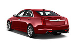 Car pictures of rear three quarter view of 2019 Cadillac CTS-V - 4 Door Sedan Angular Rear