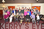 Nora Mai Mangan, Ardshanavooley, Killarney, pictured with her family, friends and former colleagues as she celebrated her retirement form the Evistion House hotel, Killarney on Friday night. ..