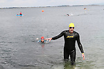 """Ray Donagh at the Clogherhead """"Round the Head Swim""""....(Photo credit should read Jenny Matthews/NEWSFILE)..."""