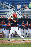 Batavia Muckdogs second baseman Shao-Pin Ho (26) at bat during a game against the Lowell Spinners on July 12, 2017 at Dwyer Stadium in Batavia, New York.  Batavia defeated Lowell 7-2.  (Mike Janes/Four Seam Images)