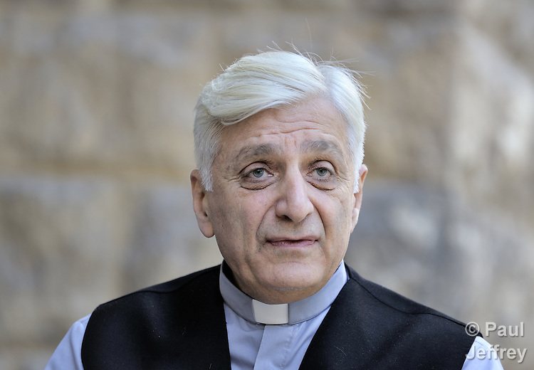 Chaldean Catholic Bishop Antoine Audo of Aleppo, Syria. Audo has spoken out vociferously on behalf of Iraqi refugees living in Iraqi, and his church provides educational and other services to some of the 60,000 Iraqis living in the Aleppo area.