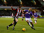 John Lundstram of Sheffield Utd  and Darren Pratley of Bolton Wanderers during the Championship match at Bramall Lane Stadium, Sheffield. Picture date 30th December 2017. Picture credit should read: Simon Bellis/Sportimage