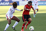 26 October 2014: Monica Ocampo (MEX) (11) and Brianna Ryce (TRI) (16). The Trinidad & Tobago Women's National Team played the Mexico Women's National Team at PPL Park in Chester, Pennsylvania in the 2014 CONCACAF Women's Championship Third Place game. Mexico won the game 4-2 after extra time. With the win, Mexico qualified for next year's Women's World Cup in Canada and Trinidad & Tobago face playoff for spot against Ecuador.