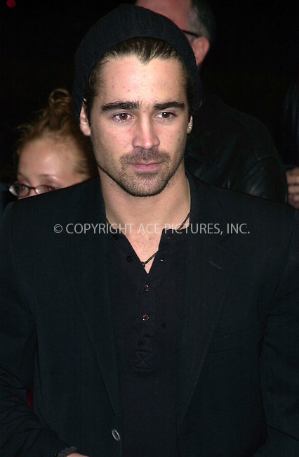 "Colin Farrell  at the Clearview Chelsea West Theater for the premiere of ""Phonebooth"". New York. March 31, 2003.....Please byline: ARTHUR J./ACEPIXS.COM   .. *** ***  ..Ace Pictures, Inc:  ..contact: Alecsey Boldeskul (646) 267-6913 ..Philip Vaughan (646) 769-0430..e-mail: info@acepixs.com"