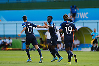 17th November 2019; Bezerrao Stadium, Brasilia, Distrito Federal, Brazil; FIFA U-17 World Cup football 3rd placed game 2019, Netherlands versus France; Arnaud Kalimuendo-Muinga of France celebrates his goal in the 54th minute for 1-2<br />  - Editorial Use