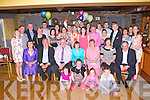 Patrick and Eileen Flynn, Keel, Castlemaine seated centre who celebrated their 40th wedding anniversary in the Anvil bar Boolteens on Saturday night with their family and friends