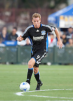 Chris Leitch dribbles the ball. The San Jose Earthquakes tied DC United 2-2 at Buck Shaw Stadium in Santa Clara, California on July 25, 2009.