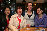 Sophie Maguire, Frances Martin, Tara Murphy and Lisa McGuinness in McPhails...Photo NEWSFILE/Jenny Matthews.(Photo credit should read Jenny Matthews/NEWSFILE)....This Picture has been sent you under the condtions enclosed by:.Newsfile Ltd..The Studio,.Millmount Abbey,.Drogheda,.Co Meath..Ireland..Tel: +353(0)41-9871240.Fax: +353(0)41-9871260.GSM: +353(0)86-2500958.email: pictures@newsfile.ie.www.newsfile.ie.FTP: 193.120.102.198.