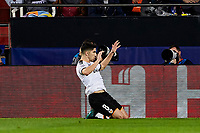 27th November 2019; Mestalla, Valencia, Spain; UEFA Champions League Footballl,Valencia versus Chelsea; Carlos Soler of Valencia CF celebrates after scoring the first goal for his team in minute 40'
