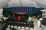 15 December 2007: The Ohio State Buckeyes held a press conference at SAS Stadium in Cary, North Carolina one day before playing in the NCAA Division I Mens College Cup championship game.
