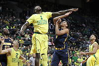 EUGENE, OR - January 19, 2017: Cal Bears Men's Basketball team vs. the Oregon Ducks at Matthew Knight Arena. Final score, Cal Bears 63, Oregon Ducks 86.