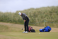 Joakim Lagergren (SWE) putts on the 1st green during Saturday's Round 3 of the 2018 Dubai Duty Free Irish Open, held at Ballyliffin Golf Club, Ireland. 7th July 2018.<br /> Picture: Eoin Clarke | Golffile<br /> <br /> <br /> All photos usage must carry mandatory copyright credit (&copy; Golffile | Eoin Clarke)