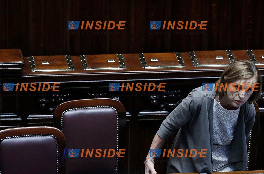 Il Ministro per il Lavoro e le Politiche Sociali Elsa Fornero.Roma 26/05/2012 Voto di fiducia, senza emendamenti ed articoli aggiuntivi, dell'articolo 1 del disegno di legge,recante Disposizioni in materia di riforma del mercato del lavoro..Foto Serena Cremaschi Insidefoto
