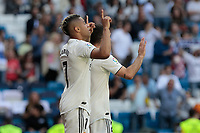 Real Madrid's Mariano Diaz celebrates goal during La Liga match between Real Madrid and Villarreal CF at Santiago Bernabeu Stadium in Madrid, Spain. May 05, 2019. (ALTERPHOTOS/A. Perez Meca)<br /> Liga Campionato Spagna 2018/2019<br /> Foto Alterphotos / Insidefoto <br /> ITALY ONLY