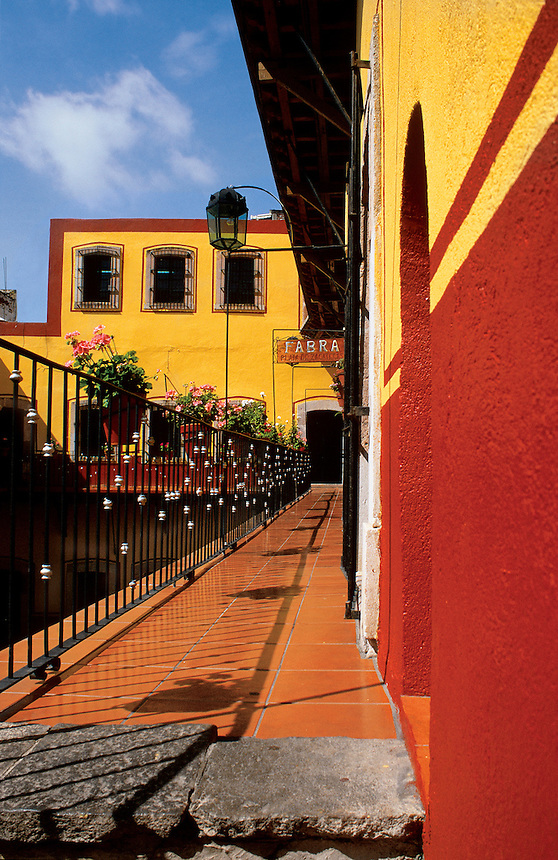 A carefully restored colonial building in Zacatecas, Mexico, 2002