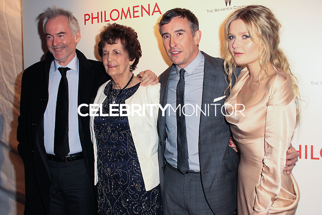"NEW YORK, NY - NOVEMBER 12: Martin Sixsmith, Philomena Lee, Steve Coogan, Sophie Kennedy Clark at the New York Premiere Of The Weinstein Company's ""Philomena"" held at Paris Theater on November 12, 2013 in New York City. (Photo by Jeffery Duran/Celebrity Monitor)"