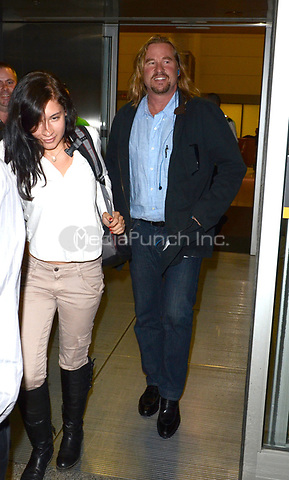 TORONTO, ON - SEPTEMBER 09:  Val Kilmer arrives in Toronto at Pearson International Airport for this years .2011 Toronto International Film Festival.  on September 9, 2011 in Toronto, Canada.   <br />