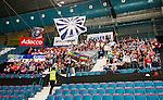 Stockholm 2014-09-05 Ishockey CHL Djurg&aring;rdens IF - Eisb&auml;ren Berlin :  <br /> Eisb&auml;ren Berlins supportrar under matchen<br /> (Foto: Kenta J&ouml;nsson) Nyckelord:  Djurg&aring;rden Hockey Hovet CHL Eisb&auml;ren Berlin supporter fans publik supporters