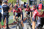 Team Ineos including Wout Poels (NED) recon Stage 1 of La Vuelta 2019, a team time trial running 13.4km from Salinas de Torrevieja to Torrevieja, Spain. 24th August 2019.<br /> Picture: Eoin Clarke | Cyclefile<br /> <br /> All photos usage must carry mandatory copyright credit (© Cyclefile | Eoin Clarke)