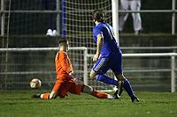 Kurt Smith of Redbridge scores the first goal for his team and celebrates during Redbridge vs Ilford, Essex Senior League Football at Oakside Stadium on 10th January 2020