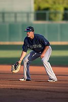 Seattle Mariners first baseman Evan White (16) during a Minor League Spring Training game against the Los Angeles Dodgers at Camelback Ranch on March 28, 2018 in Glendale, Arizona. (Zachary Lucy/Four Seam Images)