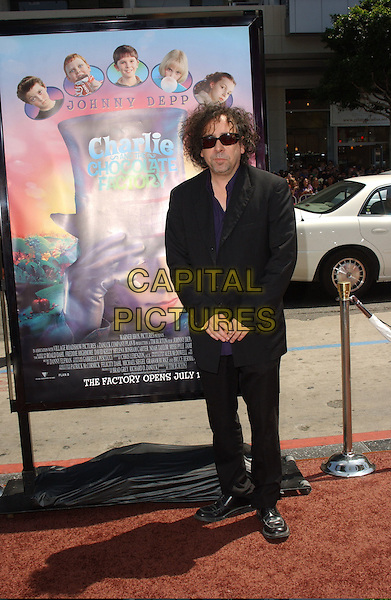 "TIM BURTON.Attends The Warner Brothers Pictures' World Premiere of ""Charlie And The Chocolate Factory"" held at The Grauman's Chinese Theatre in Hollywood, California, USA,.July 10 2005..full length sunglasses.Ref: DVS.www.capitalpictures.com.sales@capitalpictures.com.©Debbie VanStory/Capital Pictures"