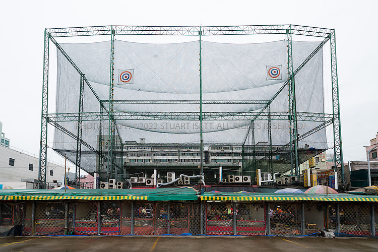 9/2/2013--Busan, South Korea<br /> <br /> A golf driving range above the Jagalchi Fish Market in Busan (Pusan).<br /> <br /> Photograph by Stuart Isett<br /> &copy;2013 Stuart Isett. All rights reserved.