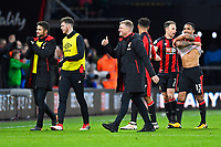 A happy AFC Bournemouth Manager Eddie Howe gives the thumbs up at the final whistle during AFC Bournemouth vs Stoke City, Premier League Football at the Vitality Stadium on 3rd February 2018